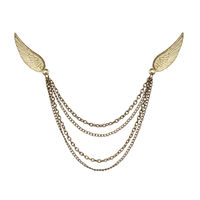 Chasquido Gold Double Wings Lapel Pin/Brooch