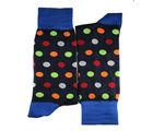 Navy blue polka dots full length socks