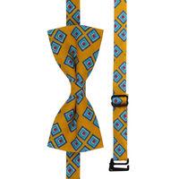 Yellow Diamond Bow Tie