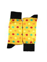Yellow polka dot full length socks