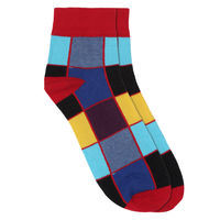 Chasquido Rainbow Red Check Low Cut Socks