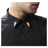 Copper triangular collar pin