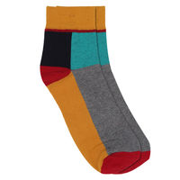 Chasquido Colour Block Low Cut Yellow socks