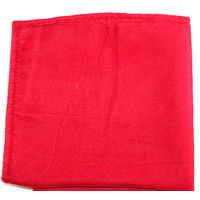Bright red velvet pocket square