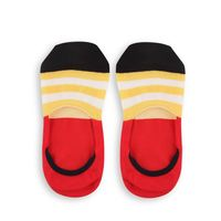 Chasquido Multicolor Stripe Red No-Show Loafer Socks