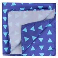 Blue Triangle Pattern Pocket Square