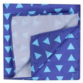 Blue Triangle Pattern Pocket Square