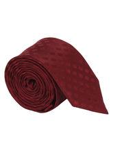 Maroon Self Dot Tie