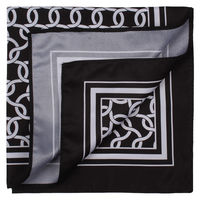Black and White Vector Pattern Pocket Square