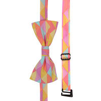Pink and Yellow Prism Print Bow Tie