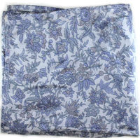 Grey floral pocket square