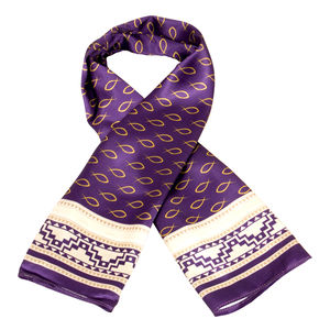 Scarf - Follow me - Purple & White