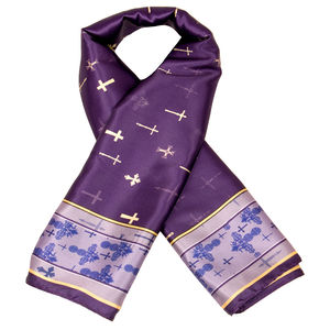 Scarf - Cross - Purple Color