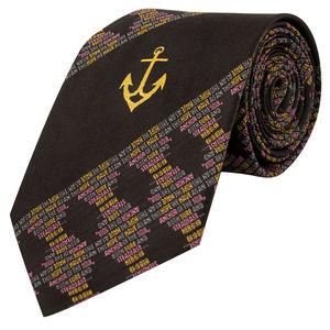Necktie - Anchor ( black colour)