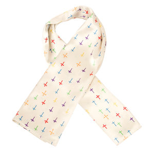 Scarf - Cross all over - Cream Color