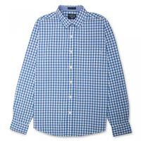 Flying Machine Small Windowpane Checks Mens Full Sleeves Shirt,  blue, xxl