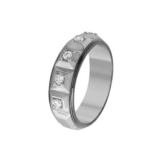 Lurie Jewellery Gold Wedding Ring With Diamonds (L...