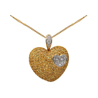 Lurie Jewellery Gold Necklace With Diamonds And Sa...