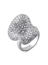 Lurie Jewellery Gold Plated Diamond Womens Ring (L...