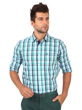 Roman Island Men's Checked Shirts (890011671101A-IL), l, green
