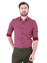 Roman Island Men's Printed Shirt Full Sleeves (890916102601F-HB), xxl, maroon