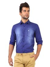 Roman Island Men's Printed Shirts (890916102805A-IQ), l, blue