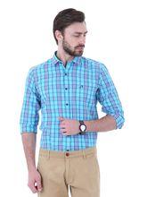 Roman Island Men's Checked Shirt Full Sleeves (890101610524B-BW), m, blue