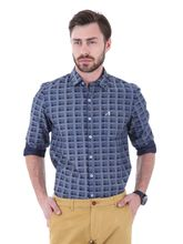 Roman Island Men's Printed Shirt Full Sleeves (89516600005A-AX), xxl, grey