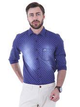 Roman Island Men's Shirt Full Sleeves (890916102801A-R), s, blue