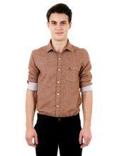 Roman Island Men's Shirt Full Sleeves (890011710701B-EX), s, brown