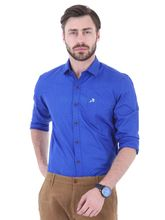 Roman Island Men's Printed Shirt Full Sleeves (890716101102D-BK), s, blue