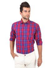 Roman Island Men's Checks Shirt Full Sleeves (890916103403B-BM), xxl, red