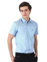 Roman Island Men's Printed Shirt Half Sleeves (890031670701CHS-EO), xxl, blue
