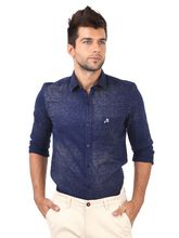 Roman Island Men's Printed Shirts (89716100903A3X-IP), xl, blue
