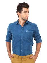 Roman Island Men's Shirt Full Sleeves (890111610631F-HQ), l, blue