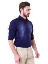 Roman Island Men's Shirt Full Sleeves (89101610552A-EW), l, blue