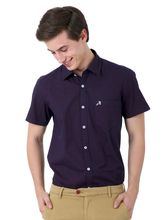 Roman Island Men's Printed Shirt Full Sleeves (89041671501A-CW), l, violet