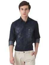 Roman Island Men's Printed Shirt Full Sleeves (890916102701B-CG), l, black