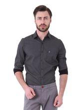Roman Island Men's Printed Shirt Full Sleeves (890916102601B-GZ), l, black