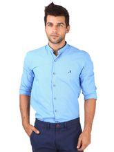 Roman Island Men's Shirt Full Sleeves (89716100801DX-HM), 3xl, blue