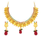 Sukkhi Intricately Crafted Laxmi Temple Coin Gold Plated Necklace Set For Women (2850NGLDPAS1450)