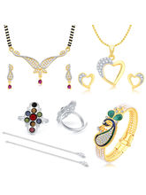 Sukkhi Graceful Gold Plated CZ Combo For Women Pack of 5
