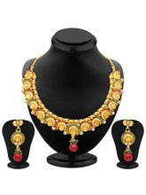 Sukkhi Ritzy Gold Plated Temple Jewellery Necklace...