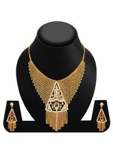 Sukkhi Fabulous Gold Plated AD Necklace Set For Wo...
