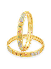 Sukkhi Dazzling Gold Plated AD Bangle For Women (32202BADV1200), 2.6