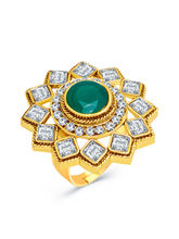 Sukkhi Finely Gold Plated AD Ladies Ring For Women...