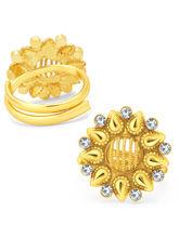 Sukkhi Magnificent Gold Plated AD ToeRing For Women (24013TRADP350_ Sukk)