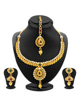 Sukkhi Royal Gold Plated AD Necklace Set For Women...