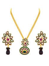 Sukkhi Fancy Gold Plated Kundan Pendant Set For Wo...