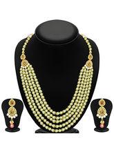 Sukkhi Wavy Five Strings Gold Plated Kundan Neckla...